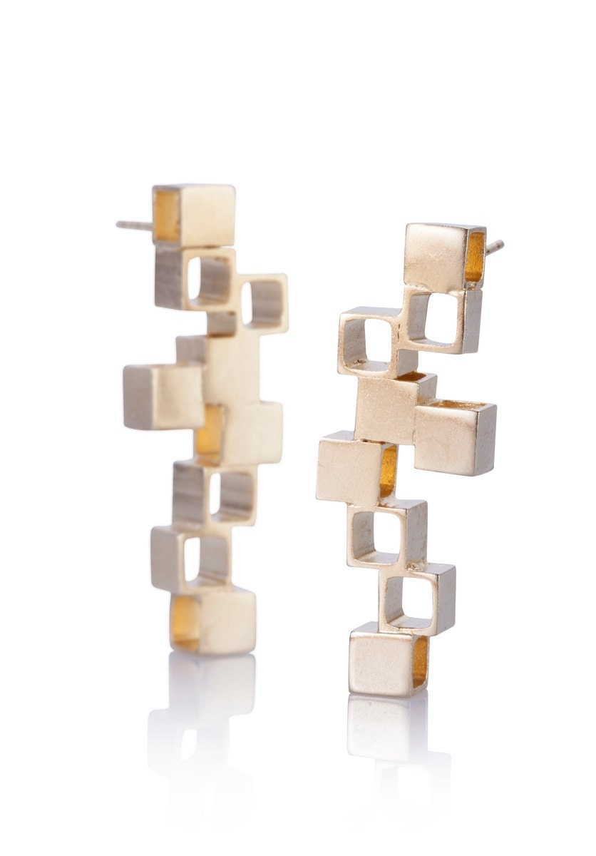Foyer Minimalist Jewellery : Minimalist jewelry earrings gold