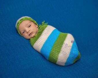 Cruz Newborn Snuggle Sack with Optional Matching Beanie