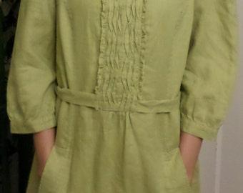 Lagenlook Linen Prairie Dress