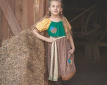 Scarecrow Wizard of Oz Inspired Play Dress sizes 3T - 10