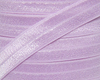 Lavender Fold Over Elastic - Elastic For Baby Headbands and Hair Ties - 5 Yards of 5/8 inch FOE