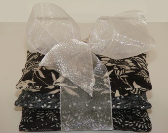 Set of Three Lavender Sachets - Black & White