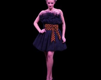 Prom Dress Multilayered Black