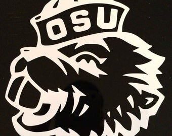 "Oregon State Benny Beaver Decal 4""x4"""