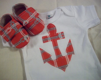 Anchor Away! Red. Blue and White Rope. Baby - Gift Set