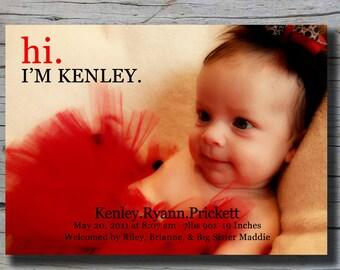 Kenley Birth Announcement