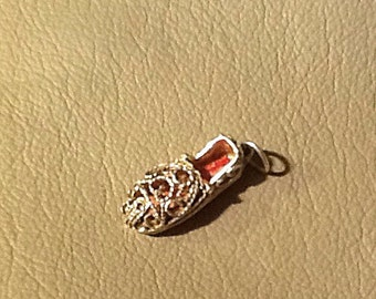 ADORABLE Sandal Shoe Sterling Silver Charm - FREE SHIPPING