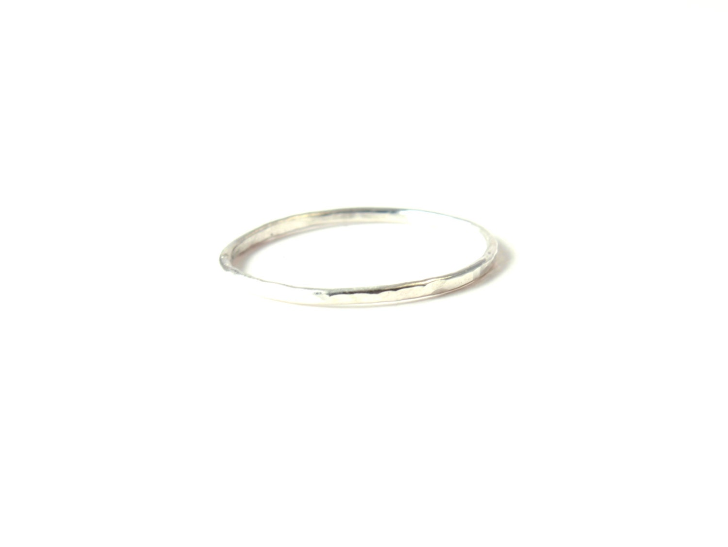 hammered ring classic silver ring midi ring stack ring
