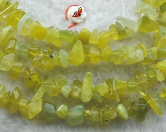 Korean Jade smooth chips beads 5-10mm,35 inches