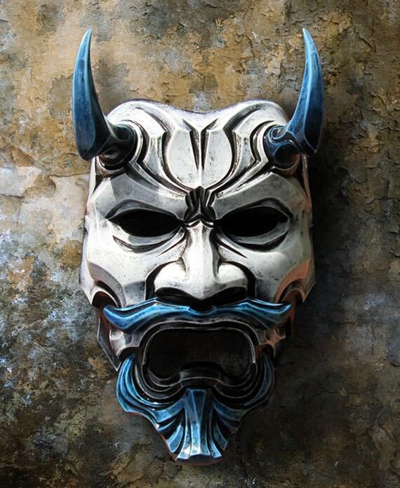 The Devil S Music De Maskers: Uncle Oni Mask 311 Japanese Noh Style Fiberglass Art Mask