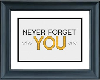 Never Forget Who You Are - The Lion King - Disney - PDF Cross-Stitch Pattern