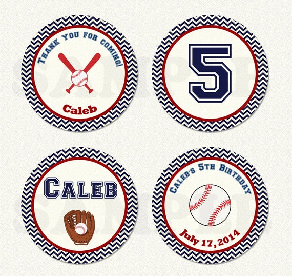 Baseball Cupcake Topper Baseball Baby Shower by ...