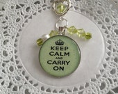 Keep Calm Planner Charm in Light Green