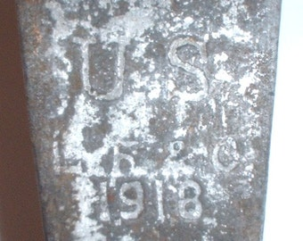 US Army M-1910 meatcan (mess tin) without lid; 1918 date