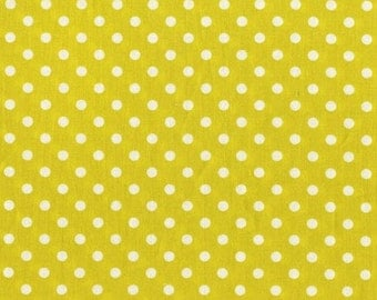 Michael Miller Fabric Dumb Dot Citron