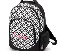 Monogram Backpack Black and White Sadie set Price includes monogram