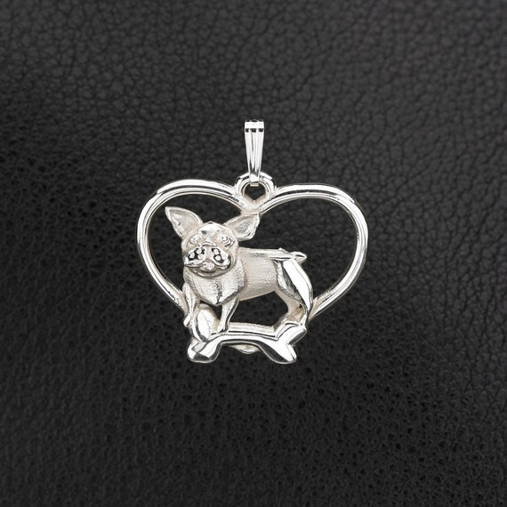 Sterling silver french bull dog pendant by donnapizarrodesigns for Just my style personalized jewelry studio
