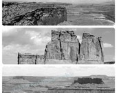 Digital Download, Landscapes of the Great West, Canyon Badlands, Canon, Mountain Panoramic Photo, Fine Art, Black and White Nature Photo