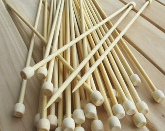 Bamboo knitting needles 4.5mm