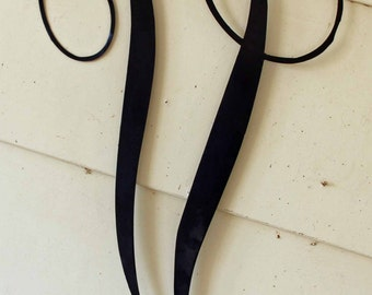 "Black Script Metal Letter ""V"" Door or Wall Hanging"