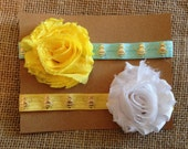 bumble bee headband set, bee headband, headband, headband, aqua shabby headband, baby girl headband, newborn headband, flower, girl headband