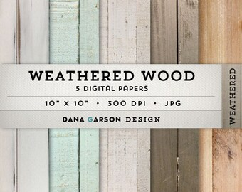 Distressed Wood Digital Paper with rustic wood textures for invites, printing, scrapbooking, blog graphics, clipart, ClipArt, painted