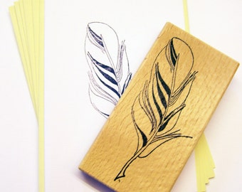 Rubber stamp - feather No. 1