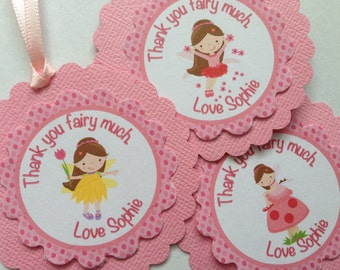 Fairy Garden Personalised Party Thank You Tags