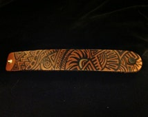 Painted Leather Cuff/Bracelet