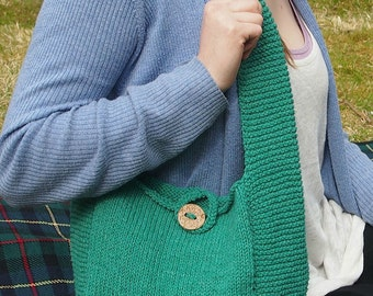 Hand Knitted Purse,Turquoise Knitted Handbag, Casual Purse