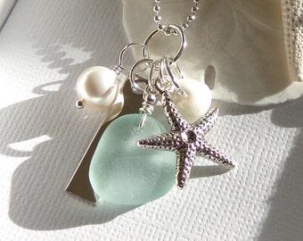 Sea Glass Starfish Beach Wedding Jewelry