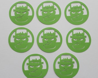 8 Frankenstein Die Cut / Scrapbooking / Card Making / Holiday Decor / Halloween