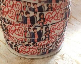 I Love One. One Direction FOE. Fold Over Elastic. Headband Supplies