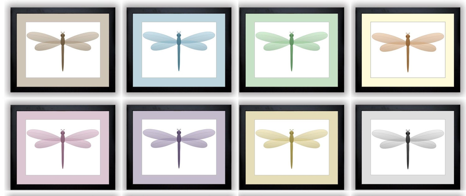 Dragonfly Dragonflies Prints Mix and Match Nursery Art Nursery Print Child Baby Art Print Kids Room