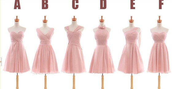 Short Blush Bridesmaid Dress,Peach Bridesmaid Dress, Cheap Bridesmaid Dress,Short Prom Dress