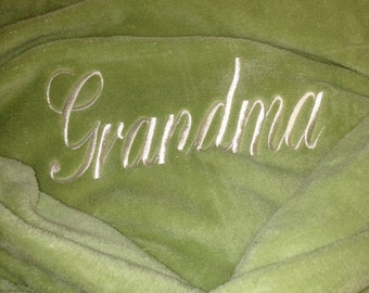 Plush Robe - Grandma Robe, Grandpa Robe, Mommy Robe, Daddy Robe, His and Hers Robe, Mr. and Mrs. Robes by Wrapped in a Cloud