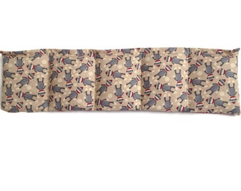 Microwaveable Flax Seed Heating Pad With Fun Sock Monkey Print