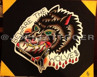 Beware the Wolves Tattoo Print