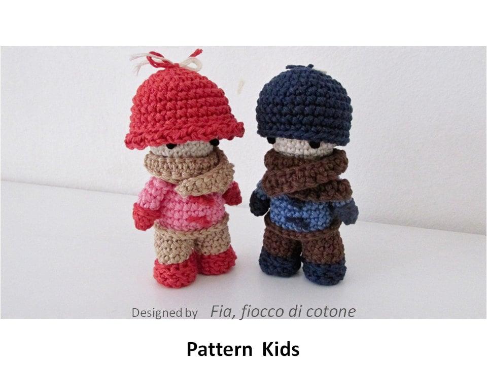 Mini Amigurumi Doll Pattern : Pattern Kids miniature doll amigurumi crochet
