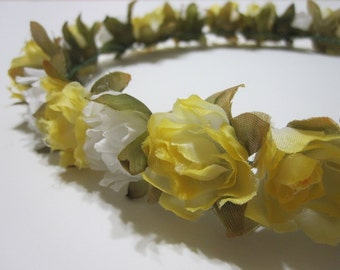 MISAKI (XIII) Yellow and White Floral Headband