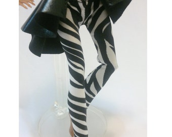Tight pants/leggings/clothes for Monster high doll- Zebra No: 801