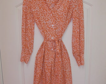 Harold Grant, Novelty Buttons Print Dress, Vintage 1960's, M/L