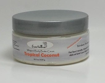 Tropical Coconut Whipped Body Butter Cream 8 oz.