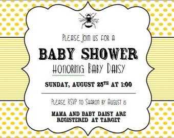 Digital Baby Invitation