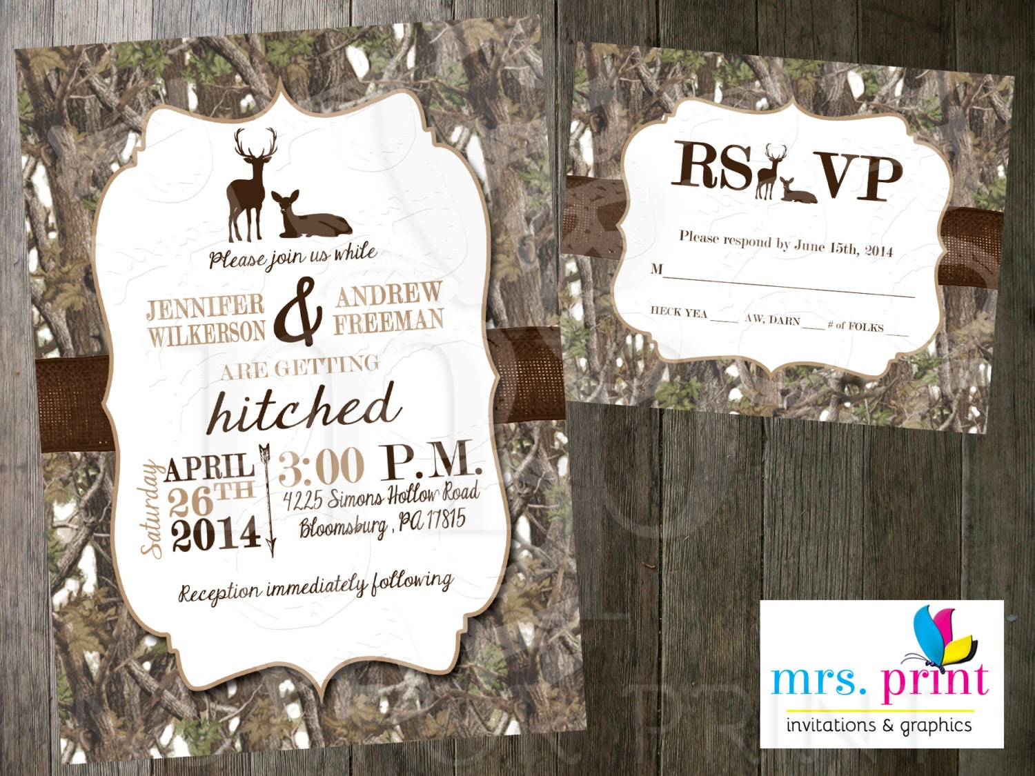 Deer Wedding Invitations was very inspiring ideas you may choose for invitation ideas