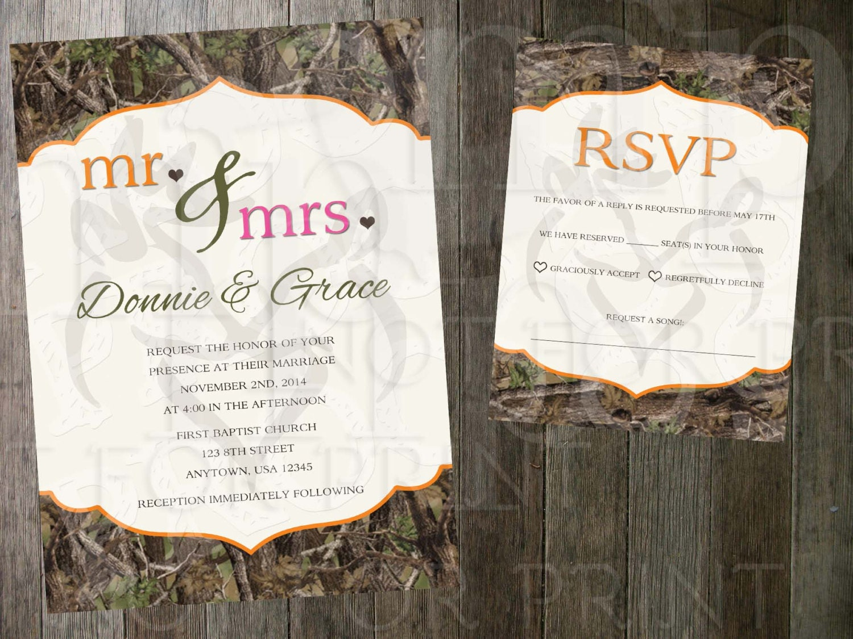 realtree snow camo wedding invitations - 28 images - snow camo ...