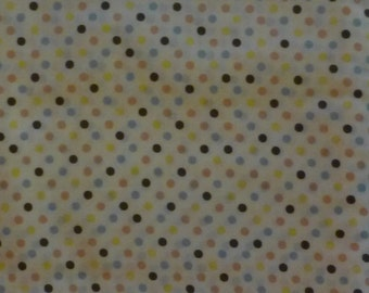 Cotton Fabric, Dots on White by Lecien, By the Yard, 44/45 inches Wide,Clothing, Quilt CottonFabric, Lots of Dots