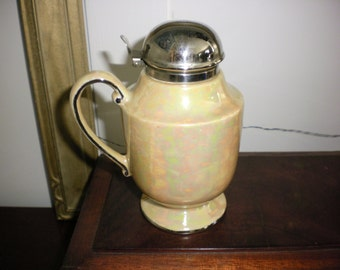 Yellow Lustreware Syrup Pitcher