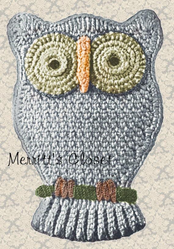 FAvorite Owl Potholder Vintage Crochet Pattern INSTANT