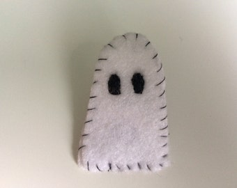Hand Made White Ghost Badge